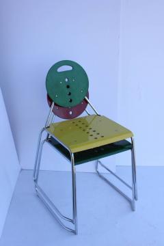 1980s Memphis Style Italian Charlie Chairs by Bimbi Gioacchini Design - 687025