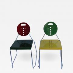 1980s Memphis Style Italian Charlie Chairs by Bimbi Gioacchini Design - 687331