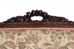 19TH CENTURY FRENCH LOUIS XVI SETTEE UPHOLSTERED WALNUT - 1245753