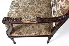 19TH CENTURY FRENCH LOUIS XVI SETTEE UPHOLSTERED WALNUT - 1245755