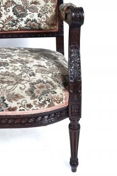 19TH CENTURY FRENCH LOUIS XVI SETTEE UPHOLSTERED WALNUT - 1245756