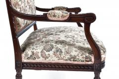 19TH CENTURY FRENCH LOUIS XVI SETTEE UPHOLSTERED WALNUT - 1245759