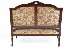 19TH CENTURY FRENCH LOUIS XVI SETTEE UPHOLSTERED WALNUT - 1245760