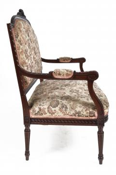 19TH CENTURY FRENCH LOUIS XVI SETTEE UPHOLSTERED WALNUT - 1245761