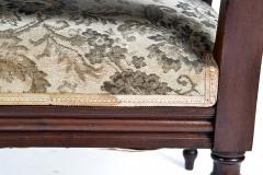 19TH CENTURY FRENCH LOUIS XVI SETTEE UPHOLSTERED WALNUT - 1245762