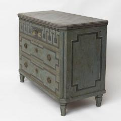 19TH CENTURY SWEDISH GUSTAVIAN STYLE CHEST OF DRAWERS IN BLUE SHADES - 2132822