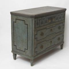 19TH CENTURY SWEDISH GUSTAVIAN STYLE CHEST OF DRAWERS IN BLUE SHADES - 2132823