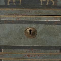 19TH CENTURY SWEDISH GUSTAVIAN STYLE CHEST OF DRAWERS IN BLUE SHADES - 2132825