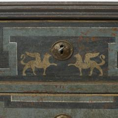 19TH CENTURY SWEDISH GUSTAVIAN STYLE CHEST OF DRAWERS IN BLUE SHADES - 2132826