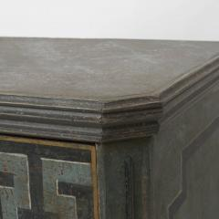 19TH CENTURY SWEDISH GUSTAVIAN STYLE CHEST OF DRAWERS IN BLUE SHADES - 2132827