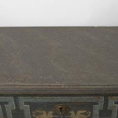 19TH CENTURY SWEDISH GUSTAVIAN STYLE CHEST OF DRAWERS IN BLUE SHADES - 2132830