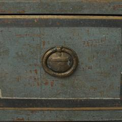 19TH CENTURY SWEDISH GUSTAVIAN STYLE CHEST OF DRAWERS IN BLUE SHADES - 2132831