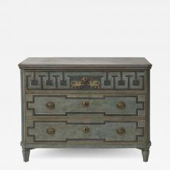 19TH CENTURY SWEDISH GUSTAVIAN STYLE CHEST OF DRAWERS IN BLUE SHADES - 2134413