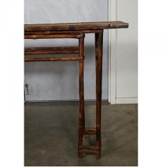 19th C Chinese Bamboo Console Table - 1949641