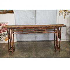 19th C Chinese Bamboo Console Table - 1949643