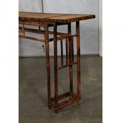 19th C Chinese Bamboo Console Table - 1949645