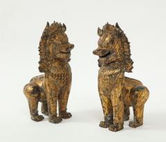 19th C Gilt Bronze Foo Dogs - 1830517