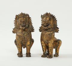 19th C Gilt Bronze Foo Dogs - 1830519