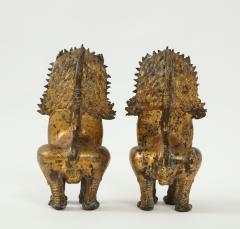 19th C Gilt Bronze Foo Dogs - 1830524