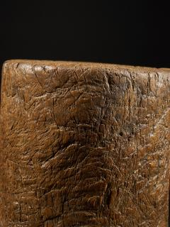 19th C Large Mortar carved from One Single Piece of Wood - 2000329