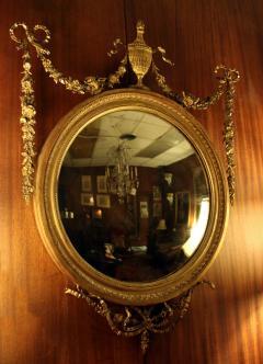 19th Century Adam Style Giltwood Convex Mirror - 612199