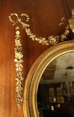 19th Century Adam Style Giltwood Convex Mirror - 612205