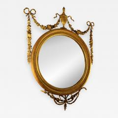 19th Century Adam Style Giltwood Convex Mirror - 619116