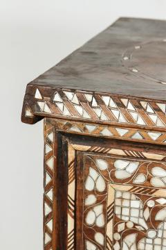 19th Century Antique Syrian Mother of Pearl Inlay Wedding Trunk - 357352