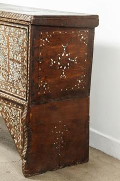 19th Century Antique Syrian Mother of Pearl Inlay Wedding Trunk - 357363