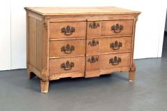 19th Century Belgian Hand Carved Oak Commode - 83601