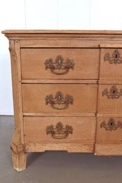 19th Century Belgian Hand Carved Oak Commode - 83614