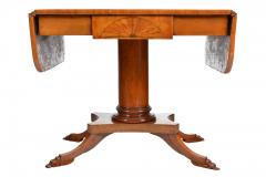 19th Century Biedermeier Period Drop Leaf Walnut Table - 1245371