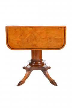 19th Century Biedermeier Period Drop Leaf Walnut Table - 1245374