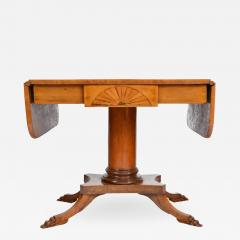 19th Century Biedermeier Period Drop Leaf Walnut Table - 1393318