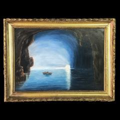 19th Century Blue Girotto Capri Italy Unsigned - 1834153