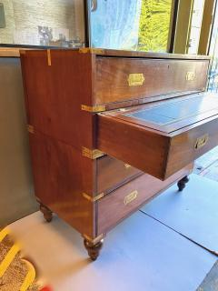 19th Century Campaign Chest With Writing Slide - 1888457