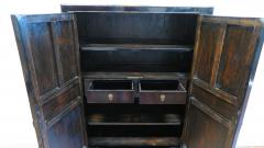 19th Century Chinese Black Lacquer Panel Cabinet - 674972