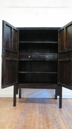 19th Century Chinese Black Lacquer Panel Cabinet - 674976