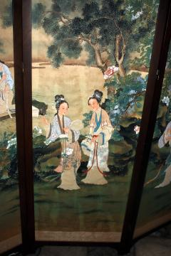 19th Century Chinese Four Panel Screen - 752588