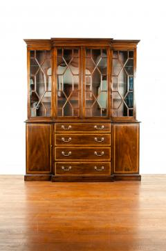 19th Century Chippendale Style Mahogany Hutch China Cabinet - 1169275