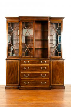 19th Century Chippendale Style Mahogany Hutch China Cabinet - 1169276