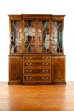 19th Century Chippendale Style Mahogany Hutch China Cabinet - 1169278