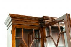 19th Century Chippendale Style Mahogany Hutch China Cabinet - 1169281