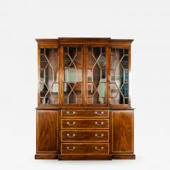 19th Century Chippendale Style Mahogany Hutch China Cabinet - 1169573