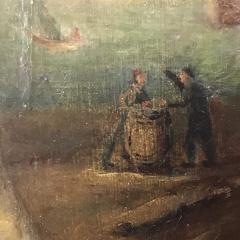 19th Century Danish Dandy Coastal Scene o c - 1702696