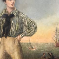 19th Century Danish Dandy Coastal Scene o c - 1702700
