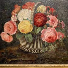19th Century Danish Floral O C Johan Laurentz Jensen School - 1534575