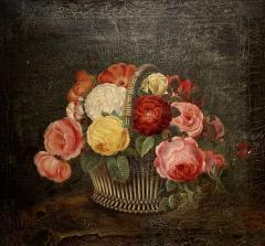 19th Century Danish Floral O C Johan Laurentz Jensen School - 1534607