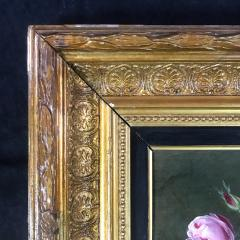 19th Century Danish Painter Pink Roses Unsigned - 1701918