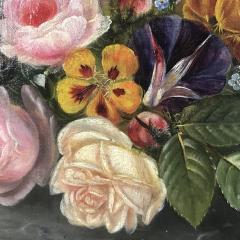 19th Century Danish School Still Life Flowers Grapes Unsigned - 1701908